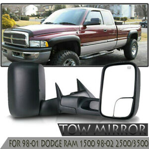 Tow Sides View Mirrors For 98 01 Dodge Ram 1500 98 02 2500 3500 Power Heated New