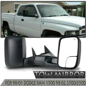 L R Pair Tow Mirrors Abs For 98 01 Dodge Ram1500 98 02 2500 3500 Power Heated Us