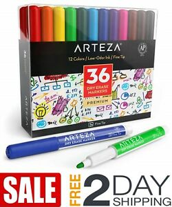 Dry Erase Markers Pack Of 36 12 Assorted Colors Low odor Ink School Office Home
