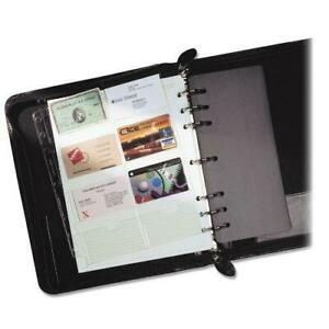 Day timer Business Card Holders For Looseleaf Planners 8 5 X 11 Clear
