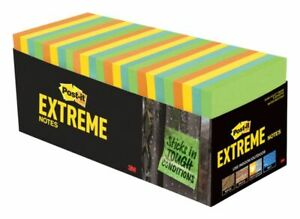 Post It Notes Extreme Notes 3 X 3 Mixed Colors Pack Of 32 Pads