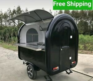 Custom Food Vending Trailer Any Color Hitch Stainless Steel Mobile Food Truck