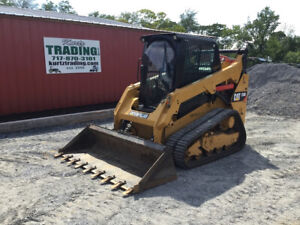2016 Caterpillar 259d Compact Track Skid Steer Loader W Cab 2 Speed New Tracks