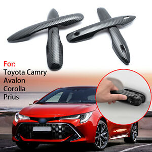 Door Handle Carbon Pattern Trim Cover 4d For Toyota Camry Corolla Prius 2018
