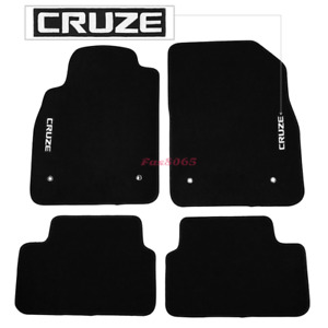 Fits 08 16 Chevrolet Cruze Black Nylon Floor Mats Carpets W Embroidery