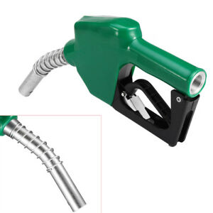 Automatic Refuelling Nozzle Diesel Oil Petrol Dispensing Fuel Transfer Grn Solid