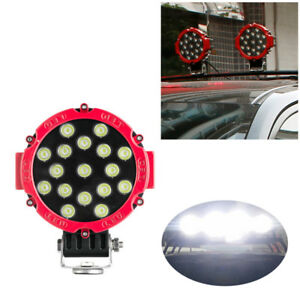 6000k 51w Round Off Road Led Work Lights For Jeep Truck Bumper Driving Red Solid