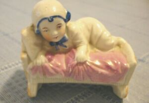 Victorian Porcelain Or China Baby Germany Figurine Still Bank German