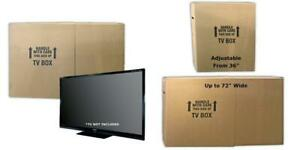 Uboxes Tv Moving Box Adjustable Up To 70 Inch 6 Inch Original Version