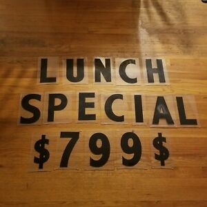 Gemini 8 Maquee Sign Letters Lunch Special 7 99