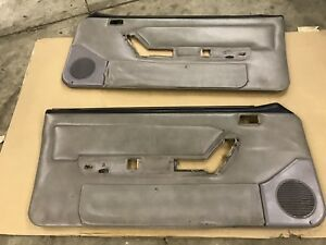 90 93 Ford Mustang Titanium Gray Door Panels Factory Oem Hatchback Coupe Gt Lx