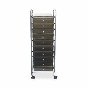 Office Depot 10 drawer Organizer With Casters 37 1 2 h X 15 1 2 w X 13 d Smok