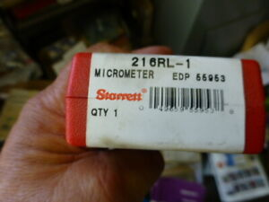 Starrett 216rl 1 Digital Outside Micrometer 0 1 Range New