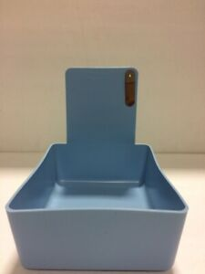Dental Laboratory Working Case Plastic Pantray With Clip Holder 12xlt blue Pans