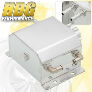 Performance 1 Liter Polished Radiator Coolant Over Flow Recovery Water Tank