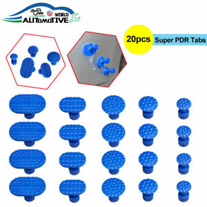 20pcs Pdr Paintless Dent Repair Tools Hail Removal Pulling Tabs For Glue Puller