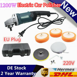 1200W Electric 6 Variable Speed Car Polisher Buffer Waxer Sander Detail Boat DEU