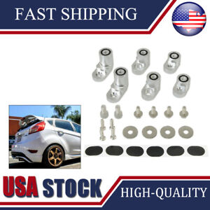 For 14 Up Ford Fiesta St Anodized Rear Wing Spoiler Riser Lift Extension
