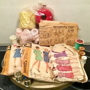 Antique Lot Mccall Sewing Patterns Embroidery Pattern Dress Coat Zipper Fragile