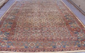 Authentic Antique Bijar Hand Knotted 100 Wool Oriental Rug 9 X 13 3