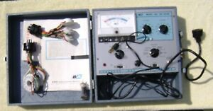 Vintage B K Model 465 Crt Tester With Manuals Adapters