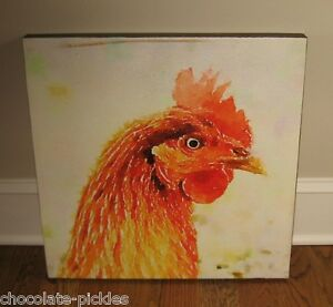 Rooster Canvas Wall Picture Urban Farmhouse Primitive Home French Country Decor