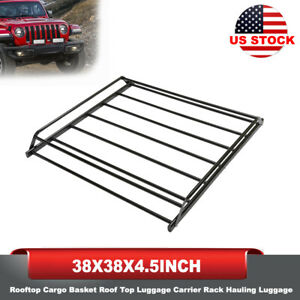 Rooftop Cargo Basket Luggage Carrier Rack Hauling Luggage 38 38 4 5inch