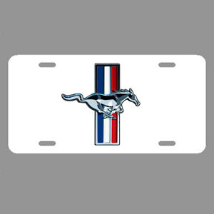 Mustang License Plate Tag Car Ford Hot Rod Racing Metal Lc019