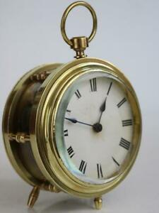 Chain Fusee Carriage Or Drum Clock Antique French Good Working Order