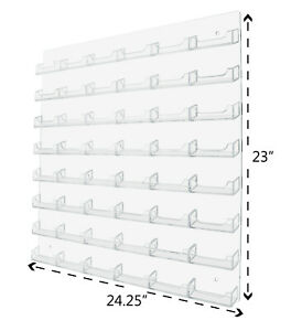 Business Card Gift Card Holder 48 Pocket Organizer Rack Clear Wall Mount Display