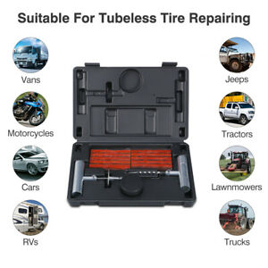 34pcs Tire Repair Plug Patch And Punctured Tires For Car Truck Motorcycle Bike