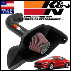 K N Typhoon Cold Air Intake System Fits 2016 2018 Ford Mustang Shelby 5 2l V8