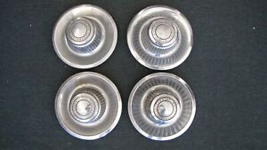 Lot Of Four Vintage Chevrolet Motor Center Caps