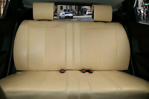 Leather Like Rear Car Seat Cover All Type Split Bench For Toyota 209 Tan