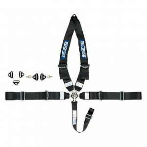 Sparco 5 Point Type Individual Shoulder Snap On Fixing Competition Harness New