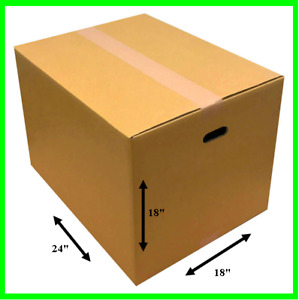 Large Shipping Box Moving With Handle Holes Cardboard 18 x18 x24 5 10 20