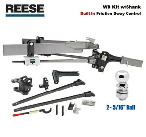 8k Reese Sc Trunnion Weight Distribution Hitch Built In Sway W 2 5 16 66153