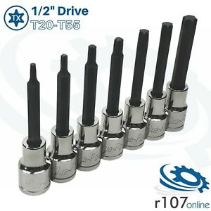 Blue Point 1 2 Long Torx Socket Set T20 t55 incl Vat As Sold By Snap On