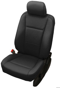 2017 2018 Ford F250 Super Duty Supercab Xlt Black Katzkin Leather Seat Covers