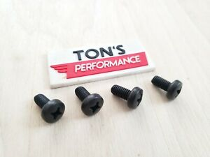 Replacement 4 Mercedes Luxury Auto License Plate Screws Black Stainless Bolts
