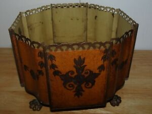 Antique Tole Toleware Made In France Footed Planter