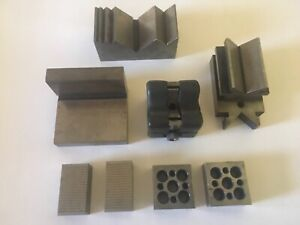 Machinist Specialty V blocks And Special Set Ups Precision Ground Qty 8