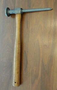 Vintage Blue Point Auto Body Dent Removal Hammer By Snap On Bf 614 Usa