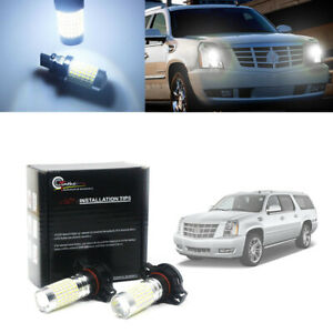 White H16 5202 Led Drl Light Bulbs For Cadillac 2007 2014 Escalade 2008 2013 Cts