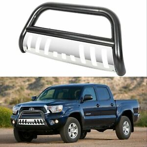 New Front Black Bull Bar Push Bar Bumper Grill Guard For 05 15 Toyota Tacoma