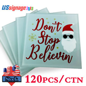 Usa 120pcs Square Sublimation Blank Glass Coaster For Heat Press 3 9 X 3 9