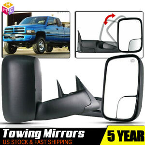 New Style Tow Mirrors For 1998 2001 Dodge Ram 1500 2500 3500 Power Adjust Heated