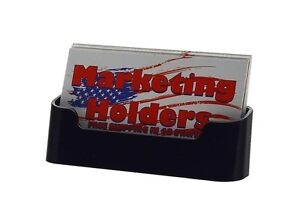 Business Gift Card Holder Display Black Stand Acrylic Countertop Plastic