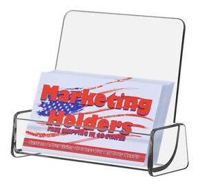 Gift Card Display Business Card Holder With High Back Clear Single Pocket Qty 50