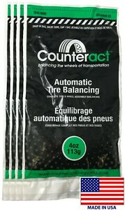 4 Bags 4 Ounce Counteract Tire Balancing Beads 4 Oz With Valve Core